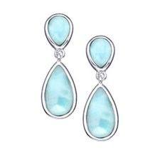 MarahLago - Larimar Basic Double Pear Earrings