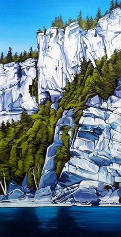 Cliff View, Lion's Head, oil on canvas, 18 inches x 36 inches