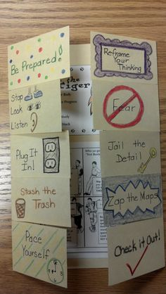 brochure of test taking strategies--great idea for students to make prior to testing.  {image only}
