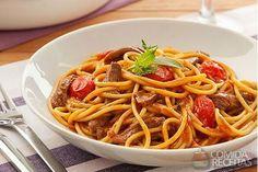 Receita de Espaguete com cordeiro e ervas - Comida e Receitas