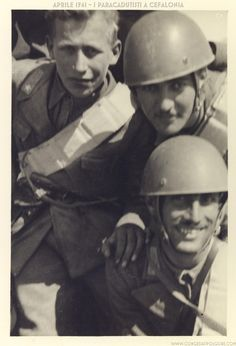 Folgore paratroopers, Cefalonia 1941 - pin by Paolo Marzioli