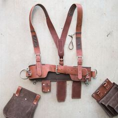 How to pick the right durable woodworking hardware ** More details can be found by clicking on the image. Leather Tool Belt, Leather Holster, Leather Pouch, Leather Tooling, Leather Bags, Diy Leather Stamp, Leather Craft, Leather Suspenders, Tool Belt Suspenders