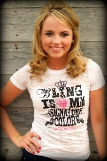 Love Texas Women? Check out Ali Dee's clothing line...Bling is my signature color tee  (Ali Dee Collection)    $49.00