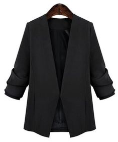OL Style Women's V-Neck Plus Size Long Sleeve Blazer from 65.59$ by SAMMYDRESS
