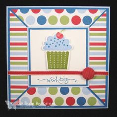 Mojo193 Cupcake Wishes by Kaleen - Cards and Paper Crafts at Splitcoaststampers