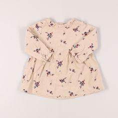 Vestido de manga larga de micropana con flores de marca Zara. Talla 6 meses. 5,40€ #modainfantil http://www.quiquilo.es/catalogo-ropa-segunda-mano/vestido-de-ml-de-micropana-con-flores-de-marca-zara-en-color-beige.html