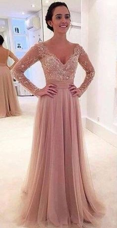 2016 Long Sleeves Prom Dresses with Detachable Skirt Two Pieces Lace Beaded Short Long Pink Evening Gowns