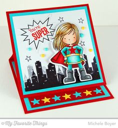 You're Super stamp set and Die-namics - Michele Boyer #mftstamps