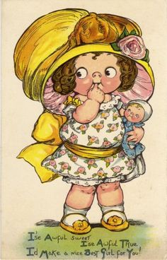 Dolly Dingle ~ GG Drayton Vintage Postcard
