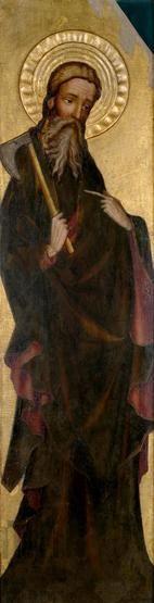 Św. Maciej. Skrzydło z retabulum ołtarzowego z Trzebuni, ok. 1400