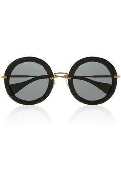 fcece131c Round-frame acetate sunglasses by Miu Miu. Gafas De Sol, Lentes, Armarios