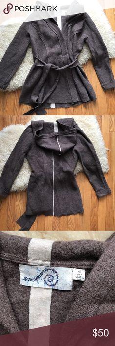 40297bac5c436c Anthropologie Rosie Neira boiled wool wrap sweater 26.5