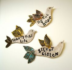 Custom Poetry Bird Wall Sculpture from loveartstudios