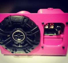Something we loved from Instagram! Oh yes I always get everything I ask for. My engineers put together this prototype: a pink one-speaker intelligent home security system just for me. One intelligent and loud virtual bodyguard  Watch my video at www.cypromus.com First security to intelligently respond to voice.... #cypromus #femaleceo #security #home #protection #prototype #pink #thinkpink #power #speakers #amps #safety #technology #raspberrypi #computer #science #artificialintelligence