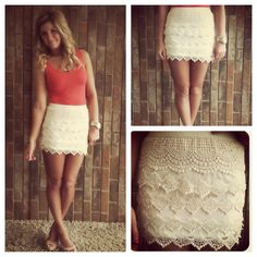 Another great lace skirt!....wonder if I could make bright.