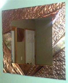Abstract Copper Mirror Sculpture by Dennis by dennisboyddesigns, $279.00