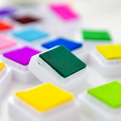 Colors Mini Water Inkpad DIY Scrapbooking Kids Favors Square Shape Ink Stamp Pads Gift for Children Colorful Ink Pad Kids Scrapbook, Scrapbooking, Stamp Pad, Ink Stamps, Diy Toys, Mobiles, Gifts For Kids, Computers, Bluetooth