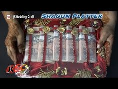 DIY Shagun Platter for Gifting in wedding Trousseau, baby shower Engagement Decorations, Engagement Ideas, Engagement Ring, Indian Wedding Gifts, Indian Weddings, Wedding Dance Video, Money Bouquet, Marriage Invitation Card, Trousseau Packing
