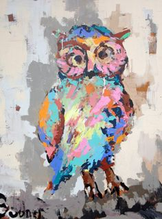 "Oil Painting by Gary Bodner ""Owl"""