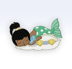 SINGLE  Embroidery Design  Mermaid 8  4x4 by CeciliasEmbroidery, £5.75