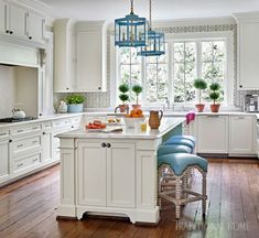 I am a huge fan of designer Sarah Bartholomew, and I actually gasped when I saw this 1926 Georgian Revival home she designed in the current issue of Traditional Home. Homeowner Bunny Blackburn grew up in Nashville always admiring this house… so when it became available for sale, she and her husband jumped at the …