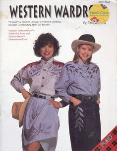Western Wardrobe Designs to Paint on Clothing Including Coordinating Hot Glue Jewelry by Patsy David#8833 Plaid a 22-page booklet featuring 9 designs. Bring out the creative, crafty side of you to upcyle the shirts and skirts already in your closet or new clothing you are planning to buy! You will create fashionable, glitzy, and stylish clothes regardless of talent or expertise  by NookCove on Etsy, $6.14