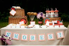 Image detail for -... and oranges of the fall. I kept the desserts simple with a smores bar