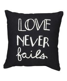 'Love Never Fails' Pillow