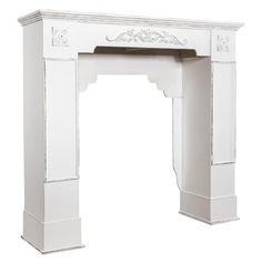 Blumenständer Kaminkonsole SHABBY Weiß Antik Kaminumrandung Aus Holz Mit  Ornamenten Landhaus. Preis Ab 129,