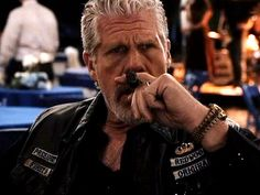 Sons of Anarchy | ''If you look at Clay, Ron [Perlman] made an interesting choice in that it's not a celebratory cigar,'' Sutter says. ''It's almost like he's looking…