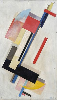 Sergei Senkin Non Objective Composition 90.5x54cm Oil on Wood Board 1921 Signed lower right, SS.