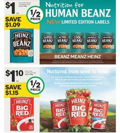 #halfprice on Heinz baked beans spaghetti and big red soup. #onsale at #woolies until 14/6/16 #woolworths #heinz  #beanzmeanzheinz #heinzbigred #groceryshopping #onabudget #jun16 #bargainmum #whypaymore #onabudget #savvysaver @woolworths_au