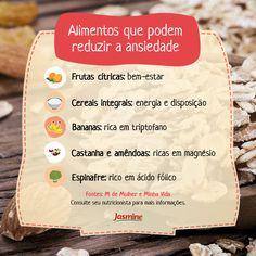 Conheça alguns alimentos que ajudam a combater a ansiedade!  Fique por dentro de mais dicas de saúde e alimentação saudável no nosso Instagram.   Acesse: https://www.instagram.com/emporioecco/