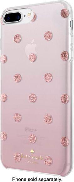 fb8d62987e5 Best Buy: kate spade new york Case for Apple® iPhone® 6 Plus, 6s Plus, 7  Plus and 8 Plus Glitter Dot Foxglove Ombre/Rose Gold Foil KSIPH-069-GDFO