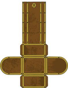 mami chips & crafts: Pirate treasure chest ready to print Treasure Chest Craft, Pirate Treasure Chest, Treasure Boxes, Pirate Birthday, Pirate Theme, Cardboard Crafts, Paper Crafts, Carton Diy, Pirate Kids