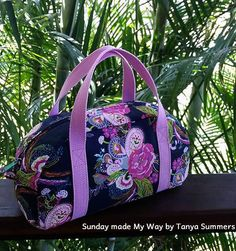 Tutorial on sewing drop-in lining of purse (free pattern at craftsy)