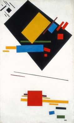 Kazimir Malevich and El Lissitzky: Painterly Masses in Motion, 1915; Suprematism