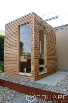 Sauna House, Sauna Room, Tiny House Cabin, Diy Sauna, Backyard Office, Garden Office, Small Backyard Pools, Small Pools, Outdoor Sauna