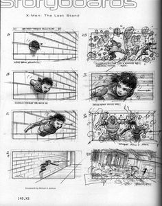 Storyboard de X-Men. La Decisión final (2006), por Michael Anthony Jackson
