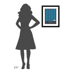 "Naxart 'Blue Mini Cooper Poster' Framed Graphic Art Print Size: 22"" H x 18"" W x 1.5"" D"