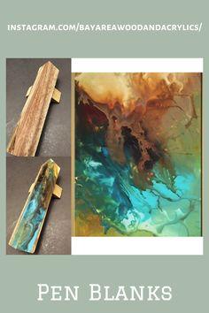 Custom Pens, Custom Wood, Pen Blanks, Reclaimed Lumber, Acrylic Material, Clear Resin, Fountain Pens, Beautiful Lights, Orange