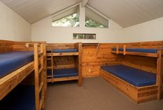 The Cabin level of accommodations at Redwood Christian Park.  #redwoodchristianpark