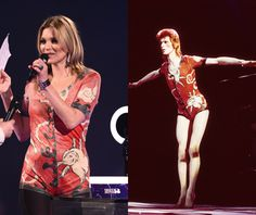 Kate Moss Wore Vintage Ziggy Stardust to Honor David Bowie   StyleCaster