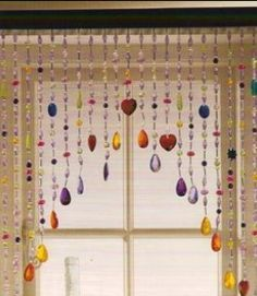 how to make a beaded window valance - Google Search