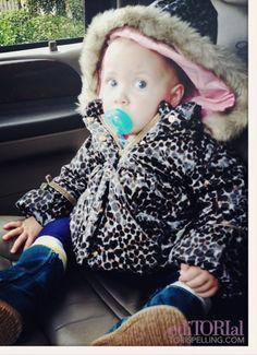 Hattie's ready-for-rain look!  Tori and Dean's baby Hattie Cat!!