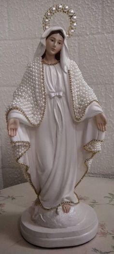 Fernanda Orsi - Pintura Decorativa: Nossa senhora manto com pérolas