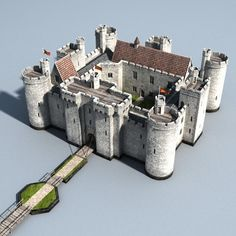 Billedresultat for medieval castle Toy Castle, Castle House, Fantasy City, Fantasy Castle, Fantasy Map, Castillo Bodiam, Terrain 40k, Midevil Castle, Chateau Moyen Age