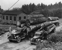 logging history   Logging Trucks