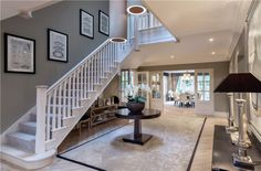 6 bedroom detached new house for sale in Holland Place, Bagshot Road, Ascot, Berkshire - 31237570 Entrance Hall Decor, House Entrance, Entrance Halls, Entrance Ideas, Mansion Homes, Mansion Interior, Hallway Designs, Hallway Ideas, Hall Flooring
