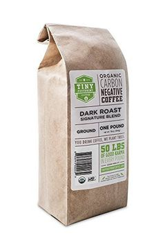Tiny Footprint Coffee Organic Dark Roast Ground Coffee, 16-Ounce Bags (Pack of 2) - http://goodvibeorganics.com/tiny-footprint-coffee-organic-dark-roast-ground-coffee-16-ounce-bags-pack-of-2/